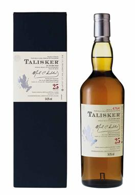Talisker Scotch Single Malt 25 Yr.